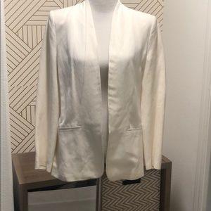 ZARA | Linen White Draped Blazer